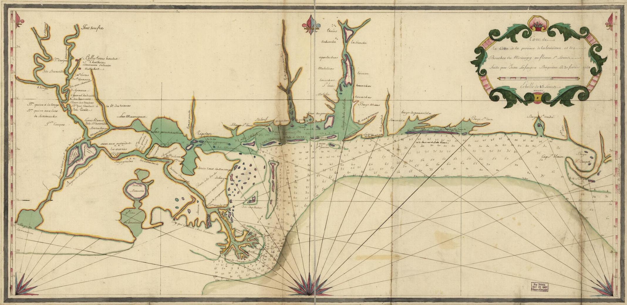 1768 map shows water route from the Lake to the River