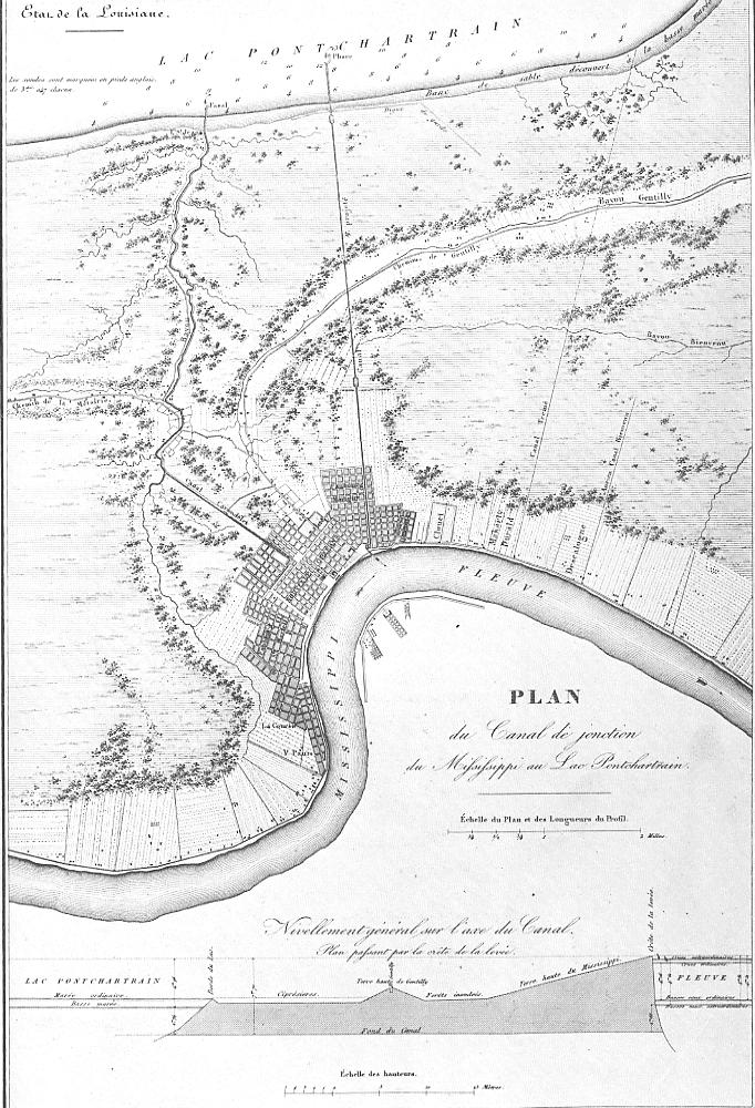 1828 - Plan for canal to connect the River to the Lake
