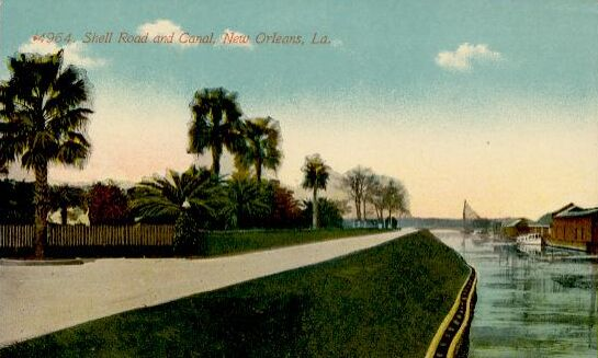1900s Shell Road at West End Postcard