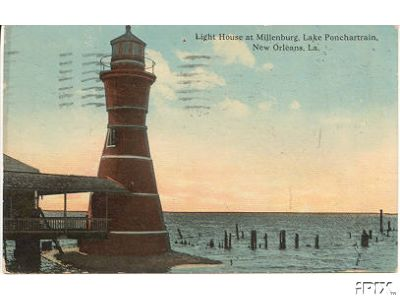 1913 Milneburg Light Postcard