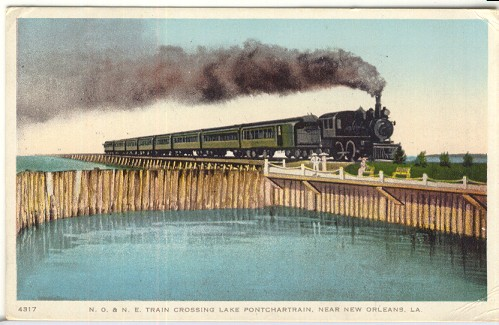 1913 - N. O. & N. E. Railroad Postcard