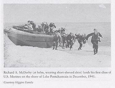 1941 Military Practices on the Shore of Lake Pontchartrain using Higgins Boats