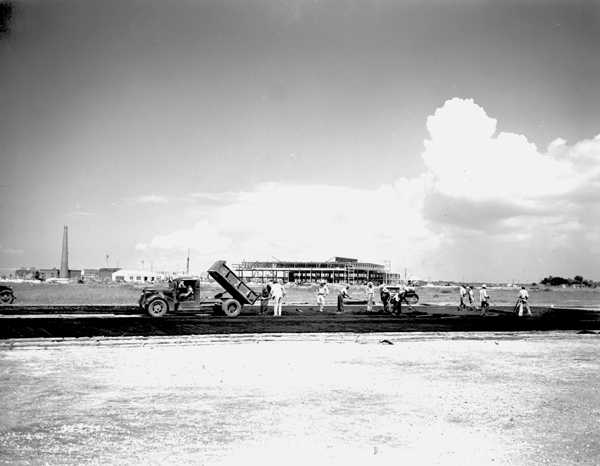 1941 Building the Runways at Camp LeRoy Johnson