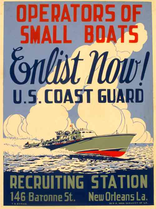 1943 Coast Guard Recruiting Poster