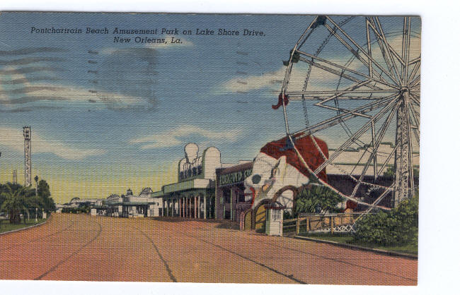 1948 Postcard from the Pontchartrain Beach Amusement Park