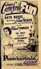 1952 - Pontchartrain Beach Ad -- Cool Carefree Fun