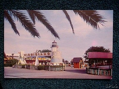 1960s Pontchartrain Beach Kiddieland postcard