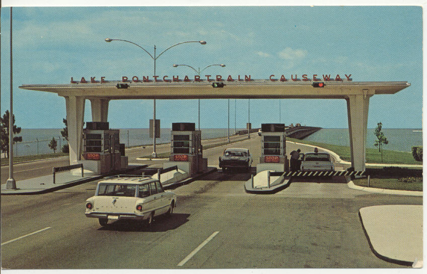 1963 Postcard of the Causeway (still one span)