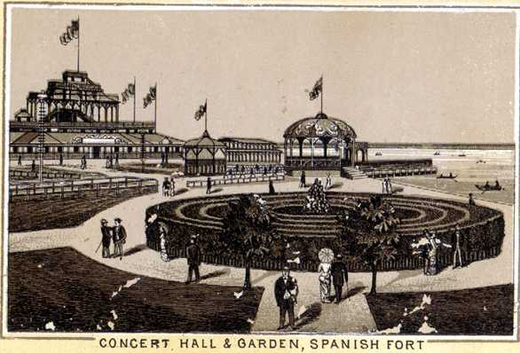 1820s - 1920s - Concert Hall & Garden at Spanish Fort