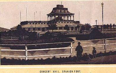 1884 - Concert Hall at Spanish Fort