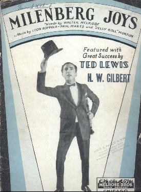 1923 - Sheet music for Milenburg Joys
