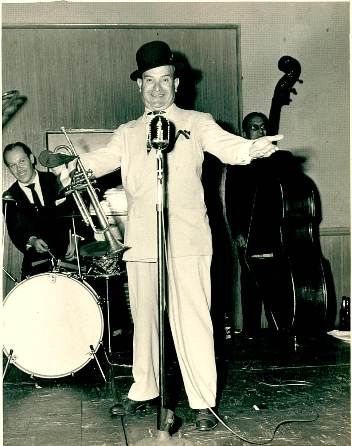 1954 Sharky Bonano (rare photo) at Lenfant's