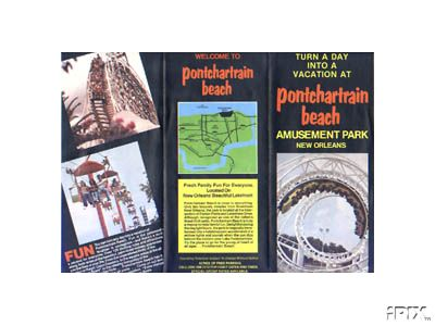 1970s Pontchartrain Beach Brochure (front)