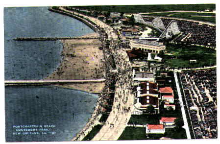 1940 Pontchartrain Beach postcard