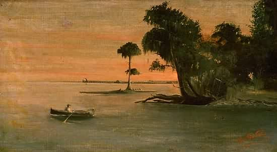 1891 Painting-the Lake and Milneburg