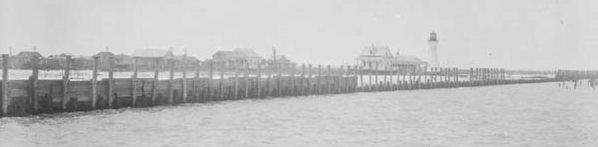 1928 - Near Milneburg Lighthouse (later Pontchartrain Beach)