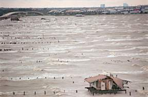 1998 - During Hurricane Georges--near the Lakefront  Airport.