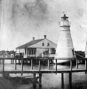 1832 Milneburg-Port Pontchartrain Lighthouse is built