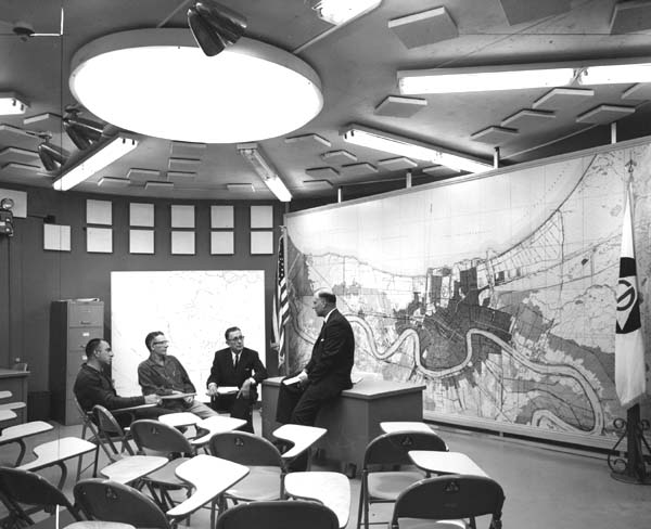 Civil Defense Fallout Shelter interior view