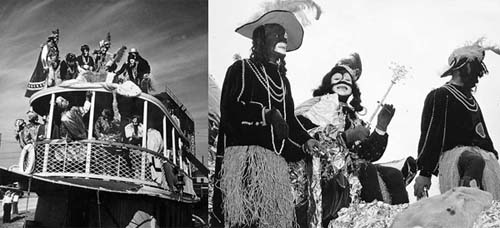 1948 Louis Armstrong as King Zulu on the New Basin Canal