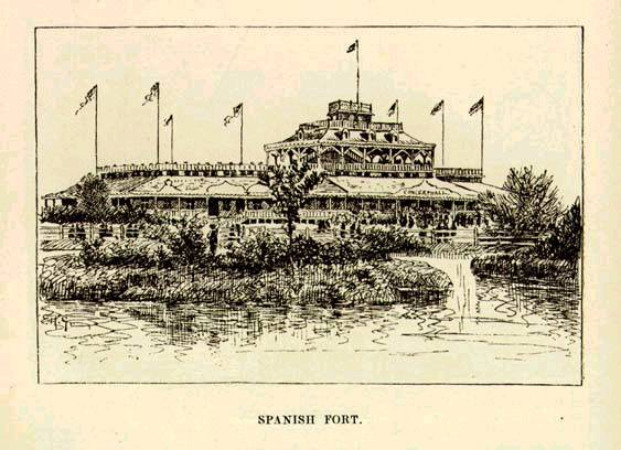 1874 Mark Twain writes about Spanish Fort in Life on the Mississippi
