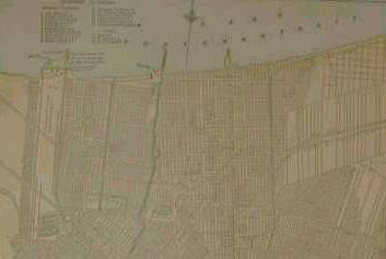 1899 National Standard Family and Business Atlas of the World map of New Orleans.