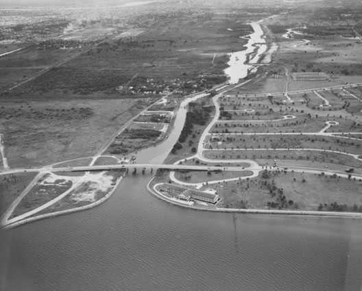 1948 -  Bayou St. John meets the Lake