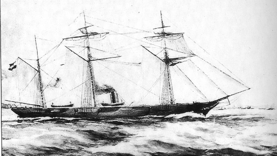 1859 Yacht is seized and outfitted as a gunboat on the Lake
