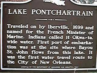 1699 - Iberville names Lake Pontchartrain