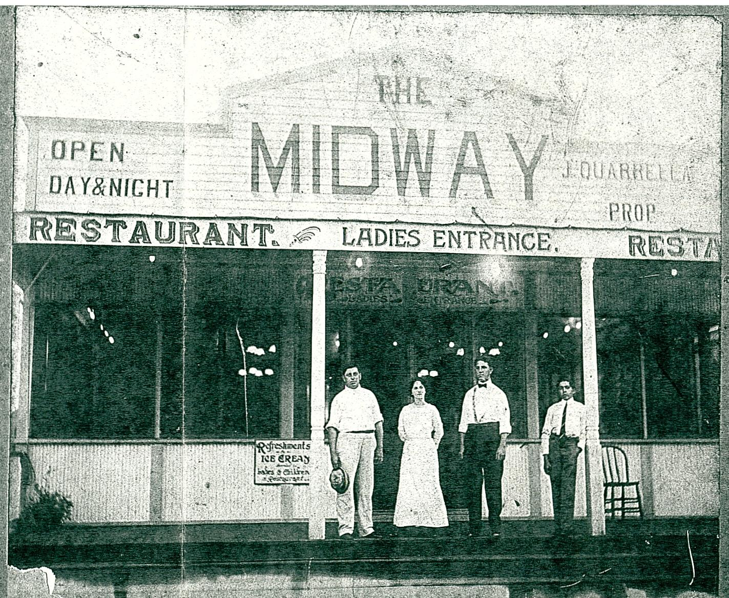 1914 - John Quarrella's Midway Restaurant at Milneburg