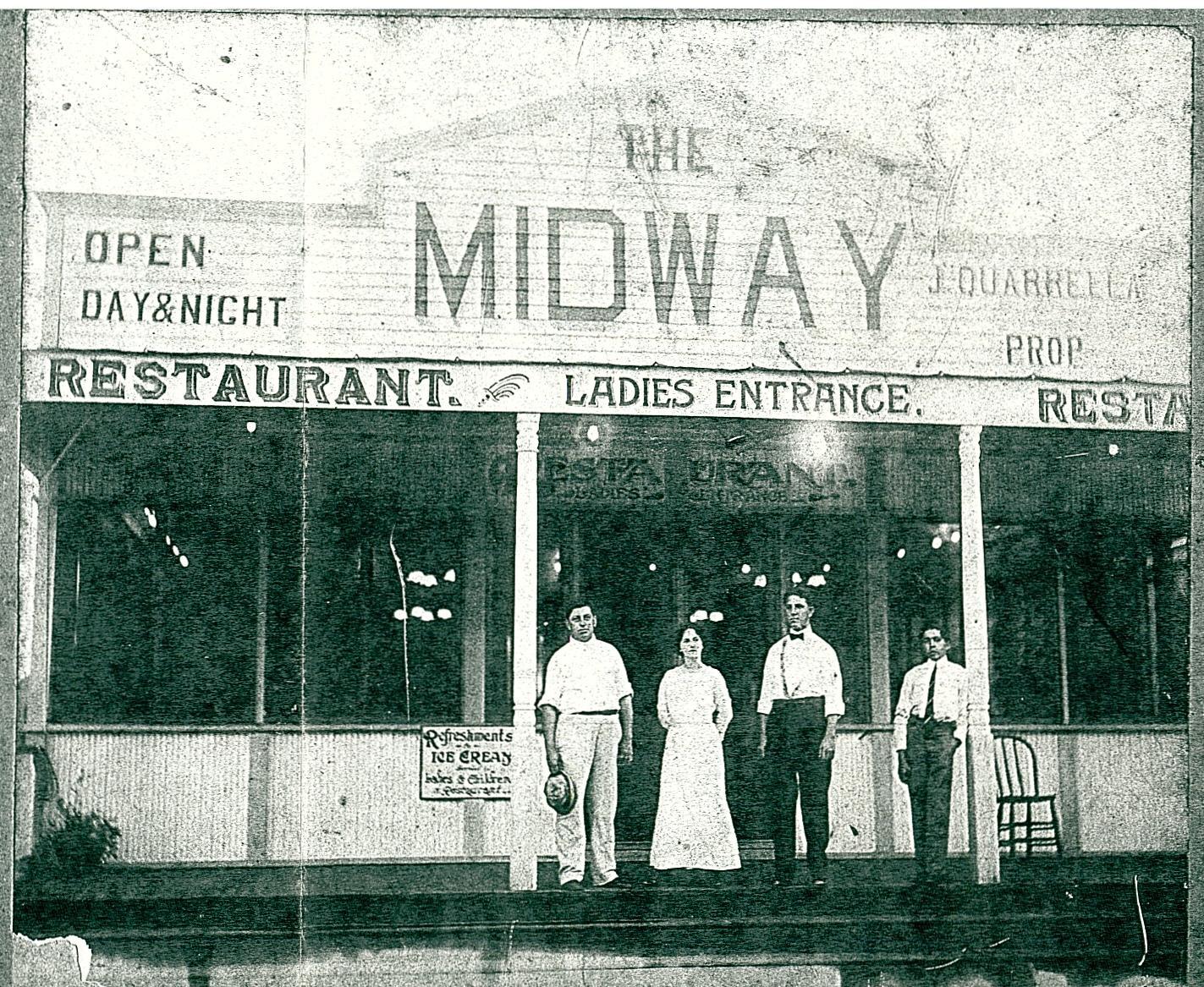 1914 - John Quarrella's Midway Restaurant at Milneburg