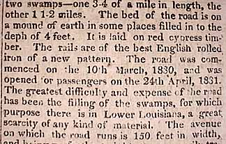 February 21, 1831- The Pontchartrain Railroad (aka Smokey Mary)